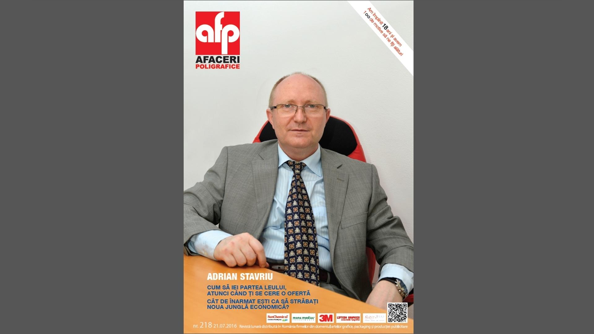 In Revista AFACERI POLIGRAFICE