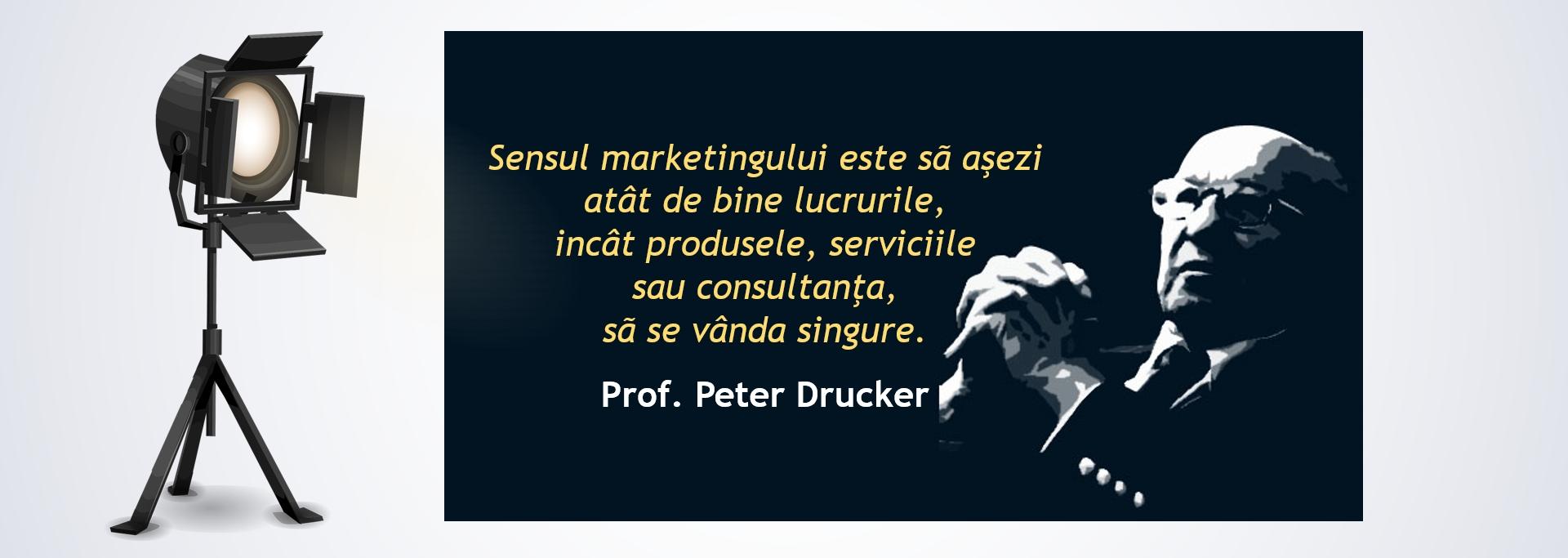 Sensul marketingului cu specialistul Peter Drucker